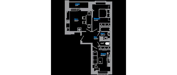 Двухкомнатная квартира в ЖК Люберцы 2017